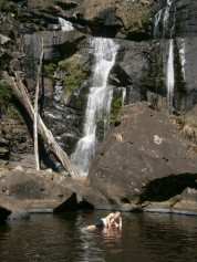 A rare merman, spotted at Stevensons Falls