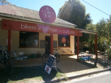 Go to the Corner Store for bike hire, repair, coffee and a bite.