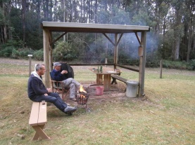 Outdoor Fire in the BBQ area