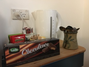 Complimentary tea, coffee and biscuits.