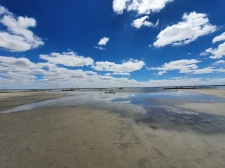 Lake Corangamite, Australia's largest permanent saline lake, near Colac
